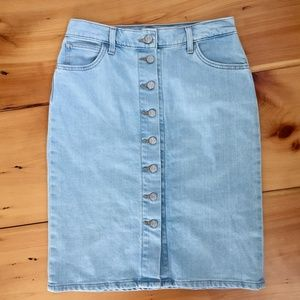 Levi's Button Down Denim Skirt